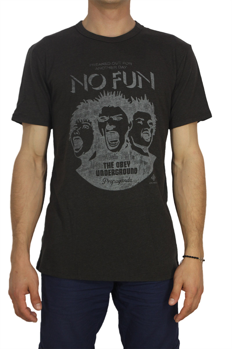 Obey ανδρικό T-shirt No fun graphite