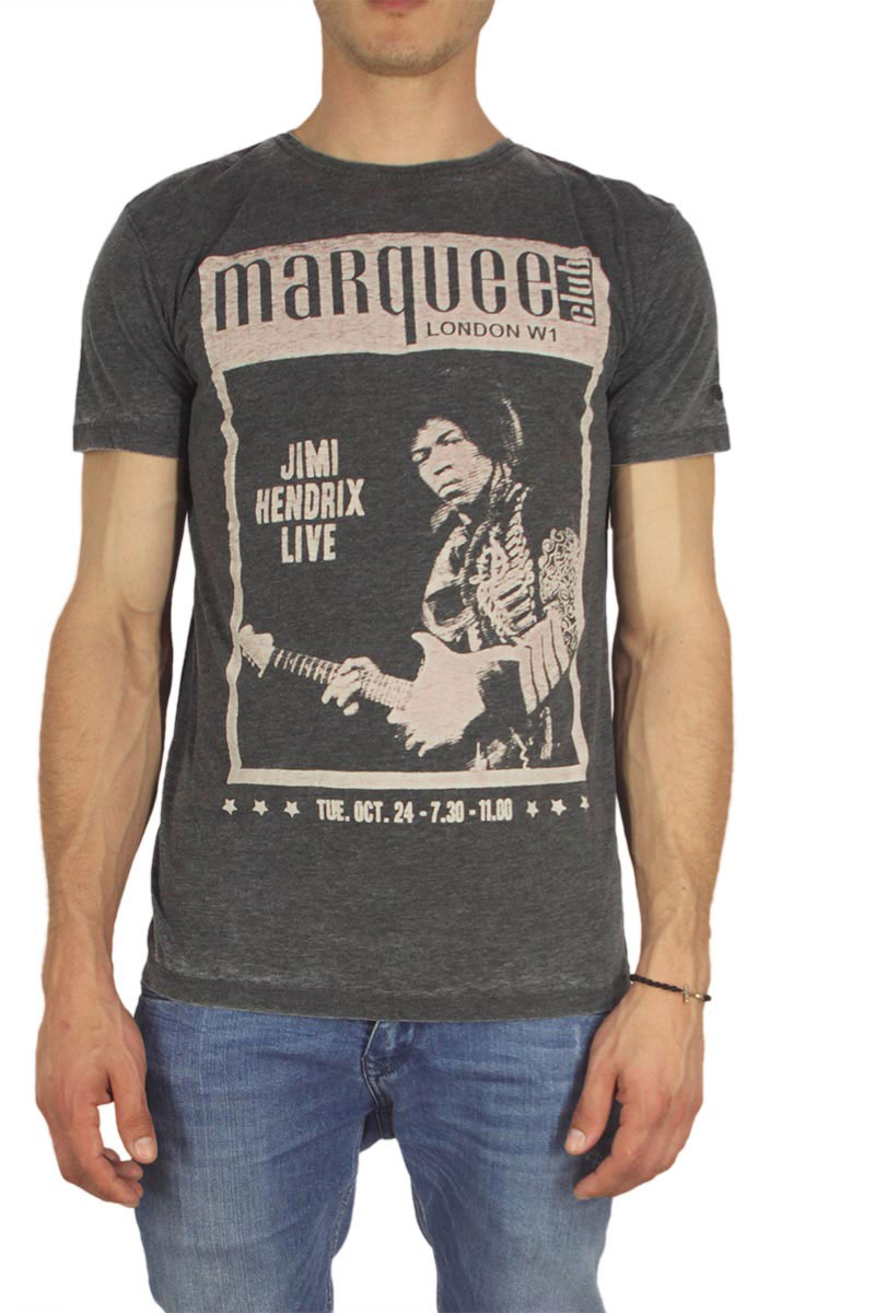 Worn By ανδρικό t-shirt Marquee Club Jimi washed black image