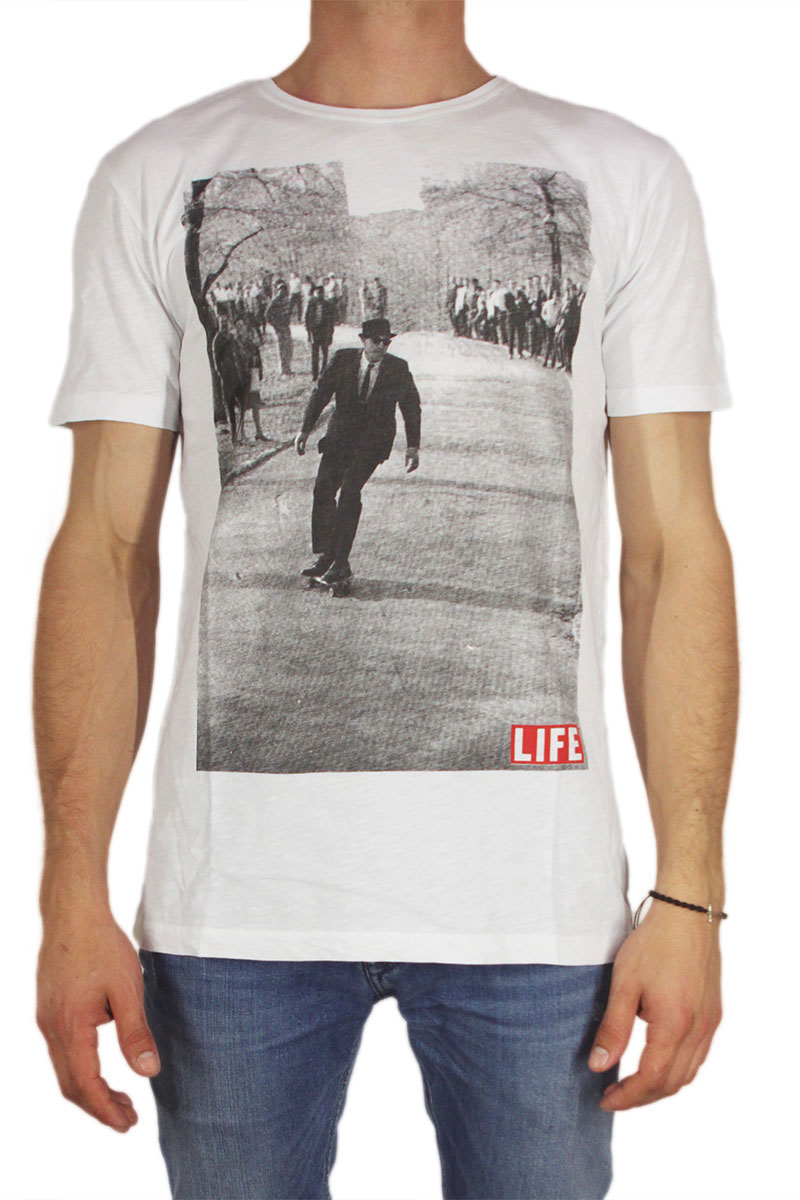 Worn Βy ανδρικό t-shirt LIFE skater by Bill Eppridge λευκό