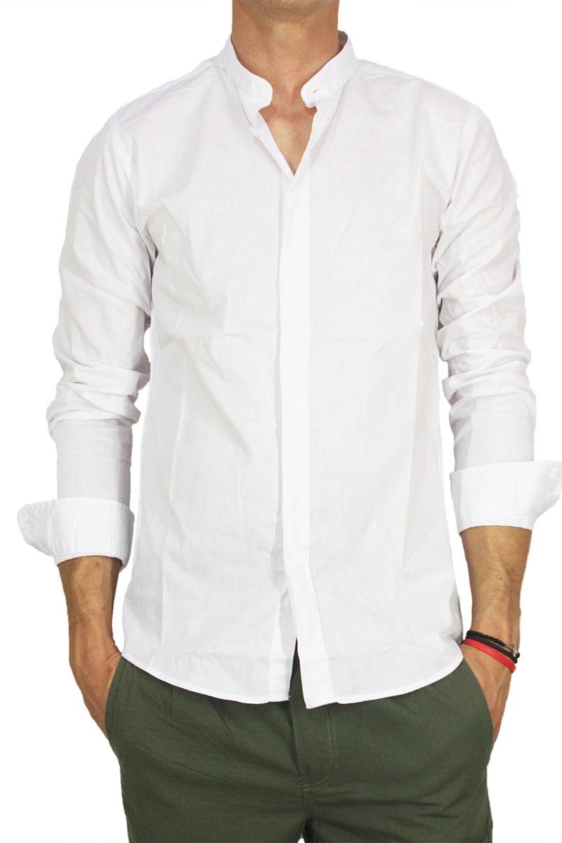 Anerkjendt mao πουκάμισο Piery λευκό
