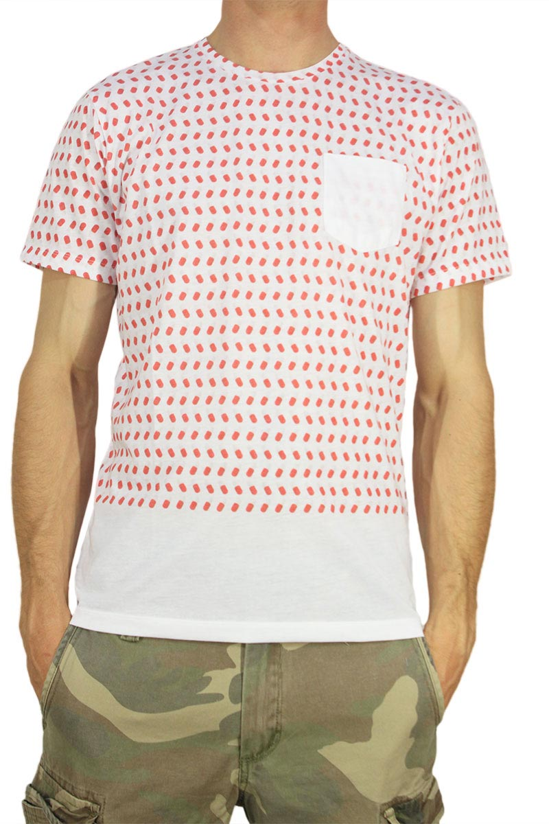 French Kick T-shirt με τσεπάκι Pills - fk-1115