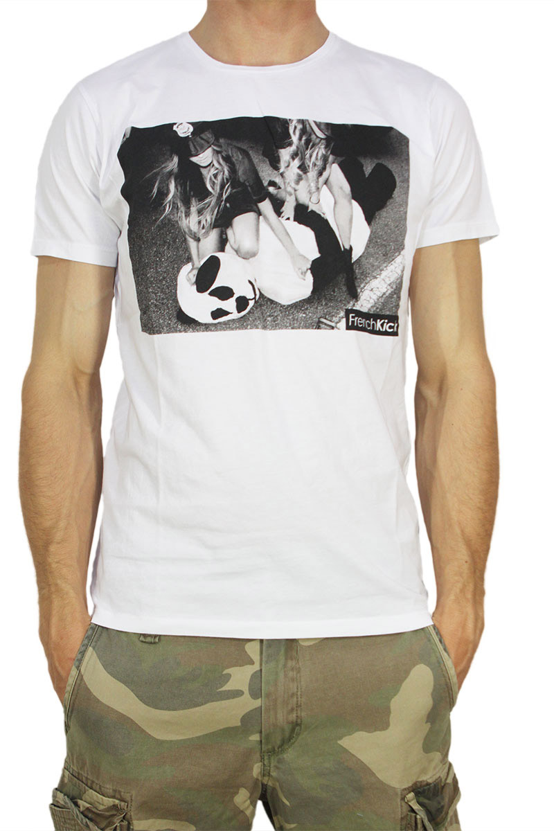 French Kick T-shirt Under arrest λευκό