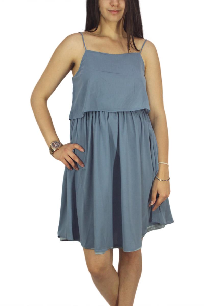 Migle + me τιραντέ φόρεμα μπλε ραφ