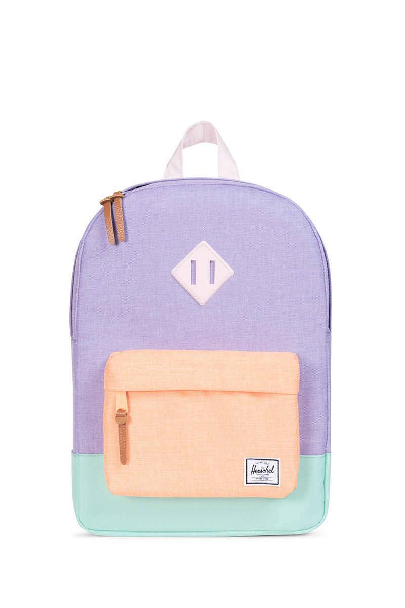 d1bb8a801c Herschel Supply Co. Heritage Youth backpack mauve crosshatch neon eton blue  ...