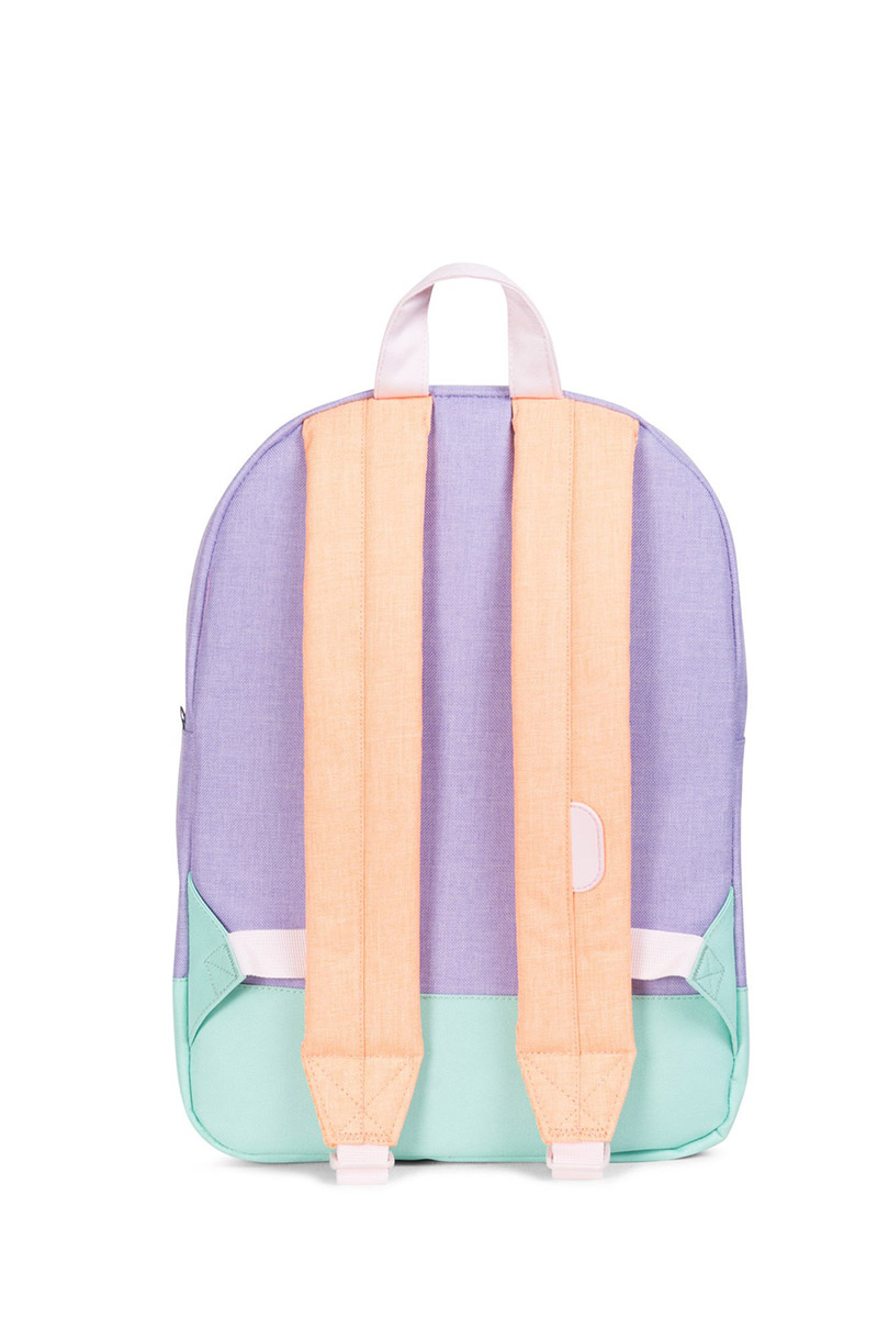656ec34064 ... Herschel Supply Co. Heritage Youth backpack mauve crosshatch neon eton  blue