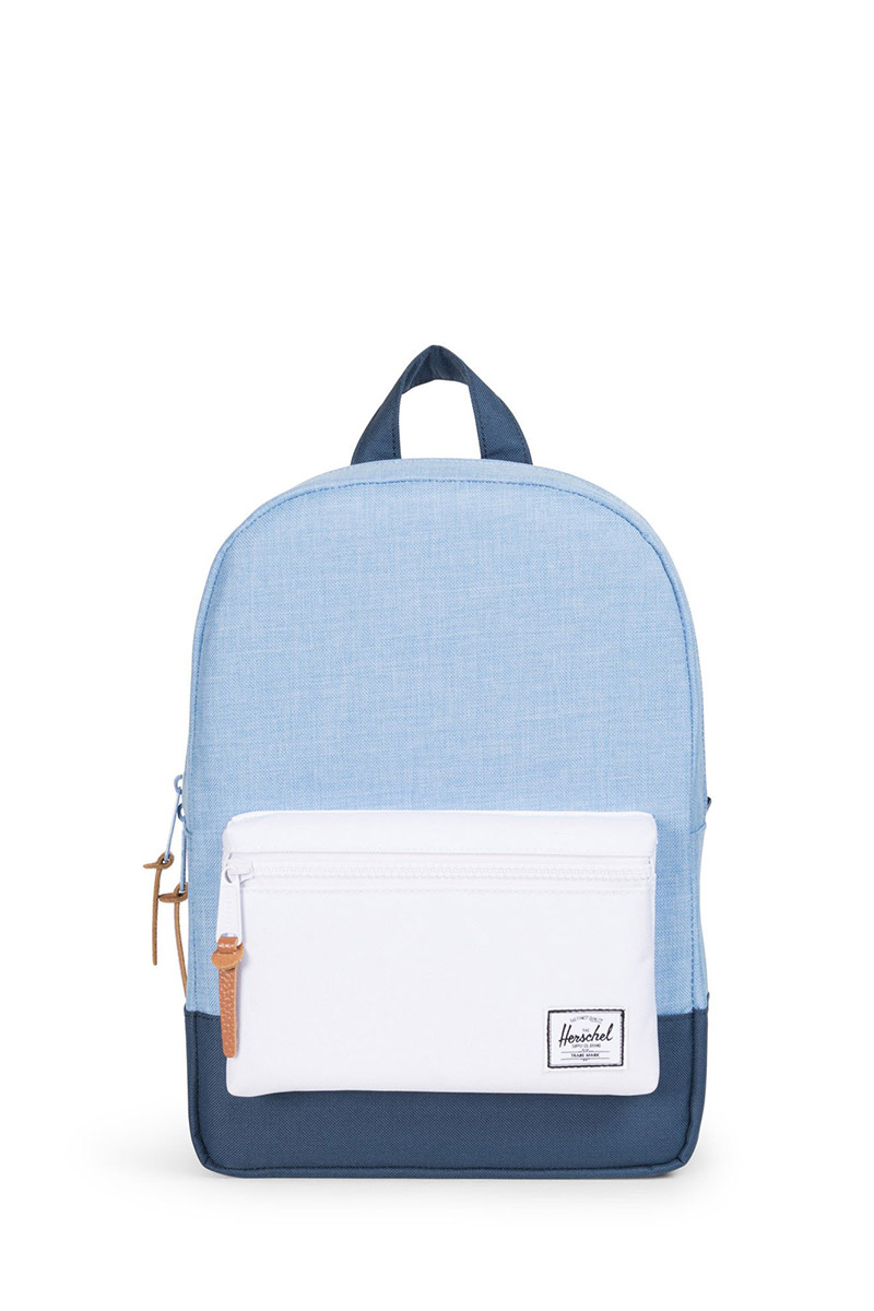 Herschel Supply Co. Settlement Kids backpack chambray navy white ... 2dbd66da02