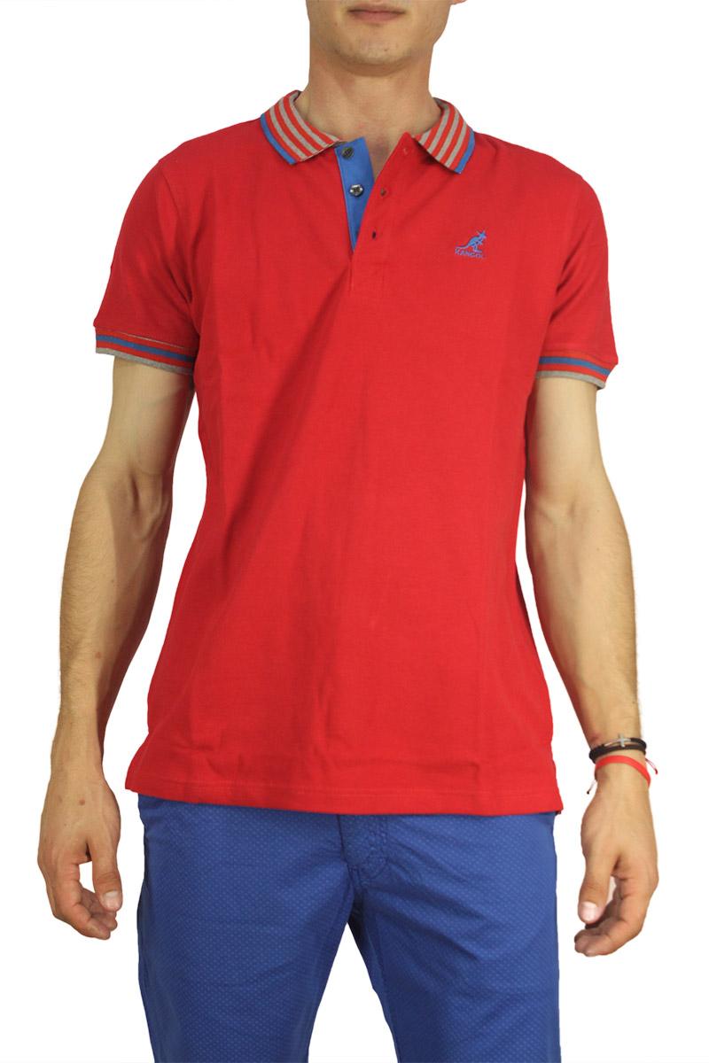 Kangol polo μπλουζάκι Bayne κόκκινο