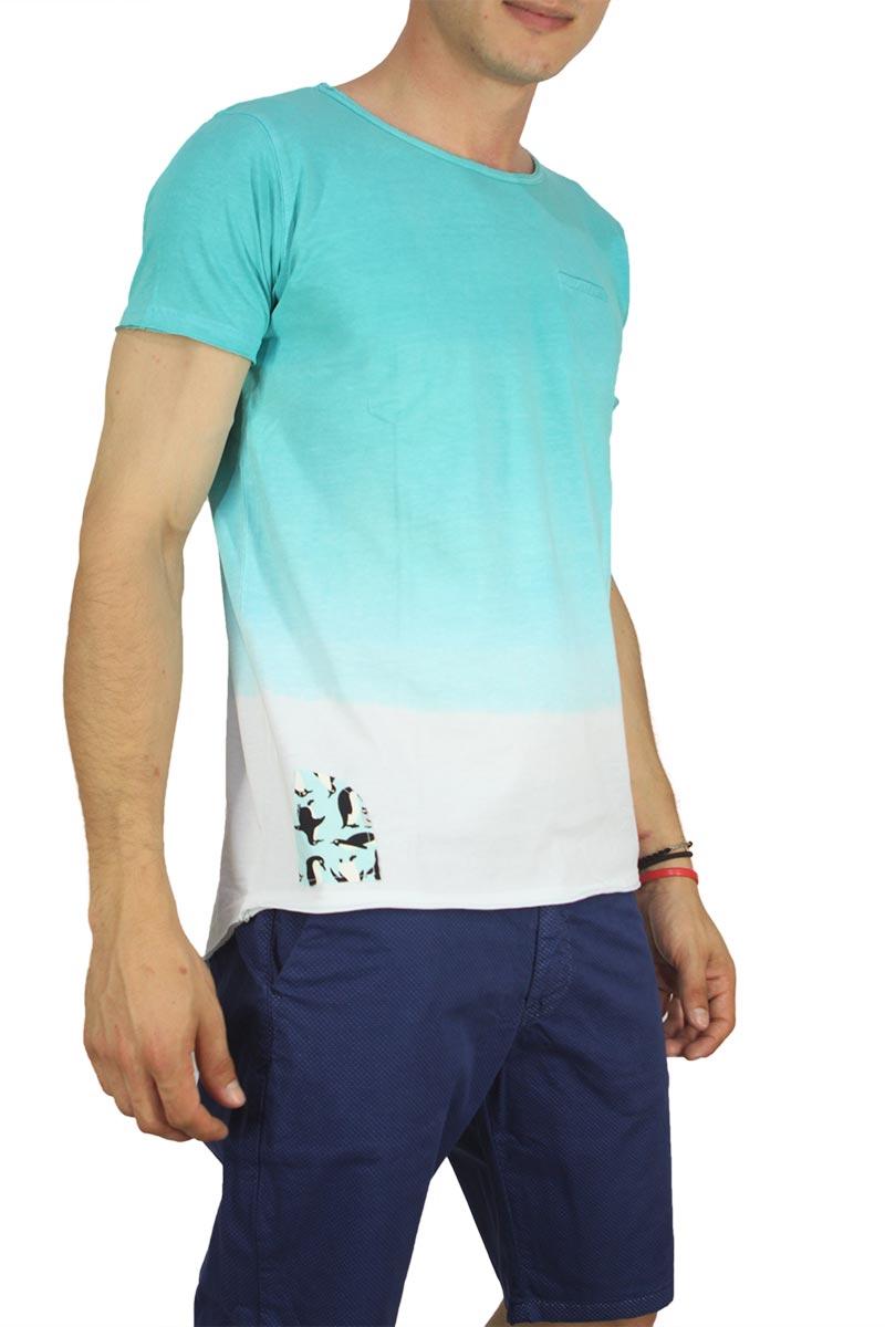 Malavita longline dip dye t-shirt άκουα
