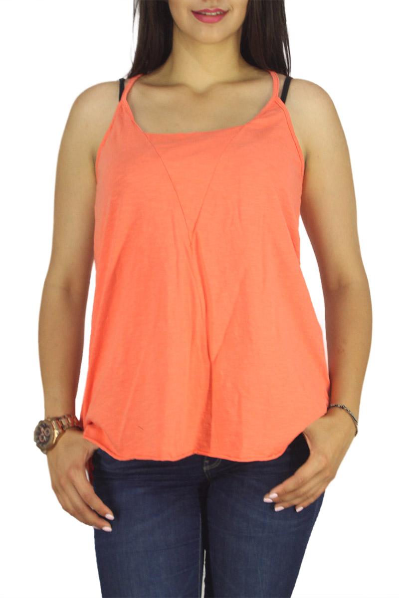 21 degrees τιραντέ μπλούζα πορτοκαλί με αθλητική πλάτη γυναικεια     μπλούζες