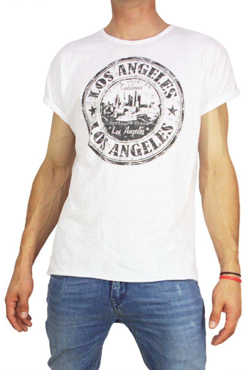 21 degrees ανδρικό t-shirt λευκό