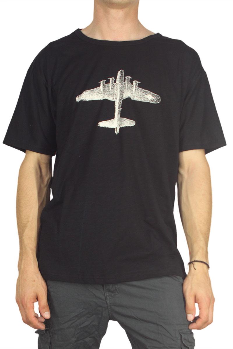 Dog's Dinner ανδρικό T-shirt Plane μαύρο
