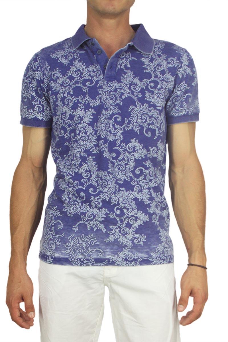 Ανρδική slim fit πόλο μπλούζα μπλε - yr-1237-bl 45cea4061c0