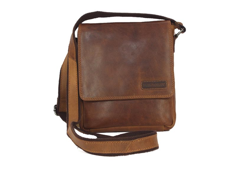 8de49a2372 Hill Burry men s leather cross body bag brown