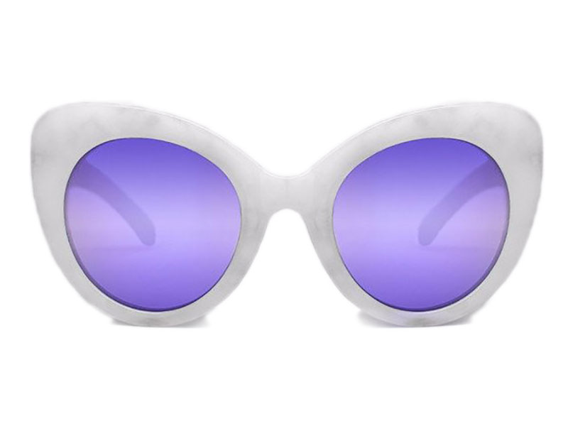 743aa511e3 Quay Australia Screamin Diva whitemarble purple mirror sunglasses