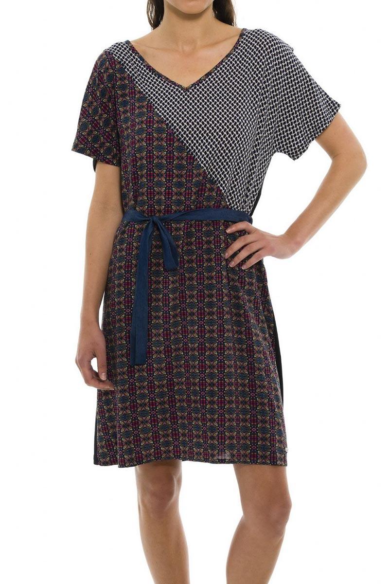 Smash Umera κοντομάνικο φόρεμα με V ντεκολτέ