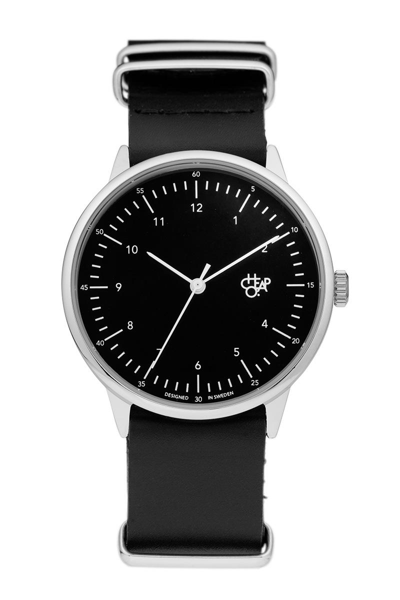 Cheapo ρολόι Harold μαύρο/μαύρο δερμάτινο λουράκι image