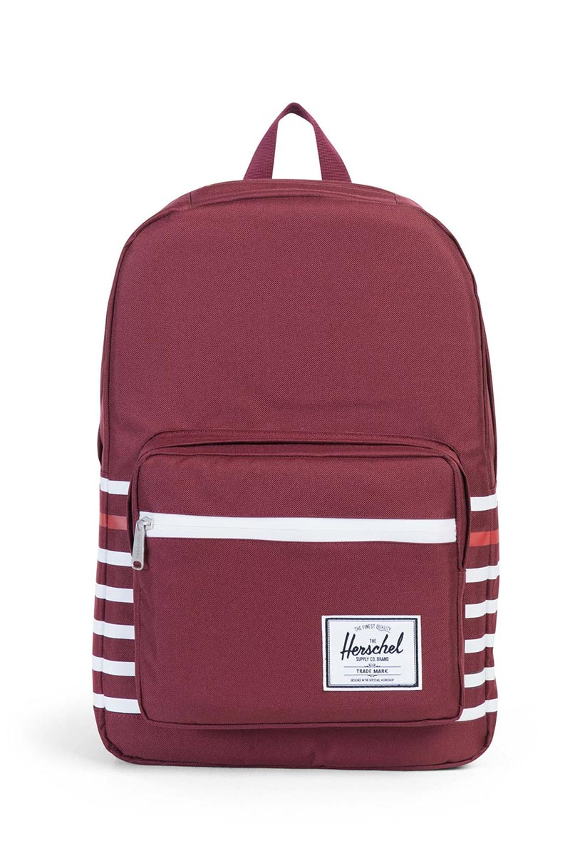 Herschel Supply Co. Pop Quiz Offset backpack windsor wine offset stripe