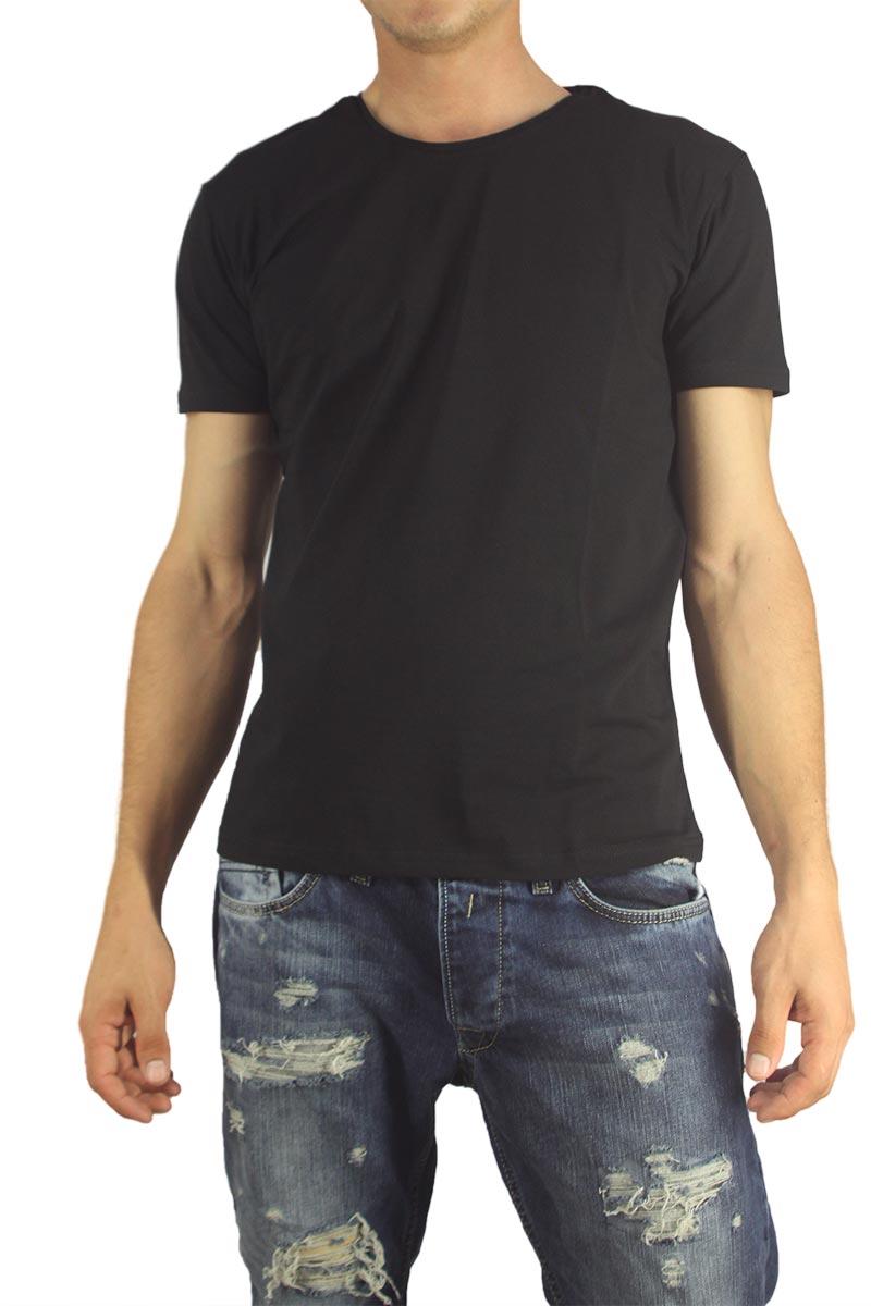 Ανδρικό basic t-shirt μαύρο