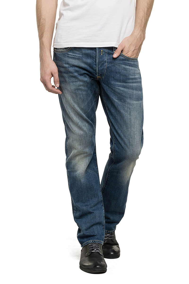Replay ανδρικό Waitom regular slim fit jeans - m983-000-606308-009