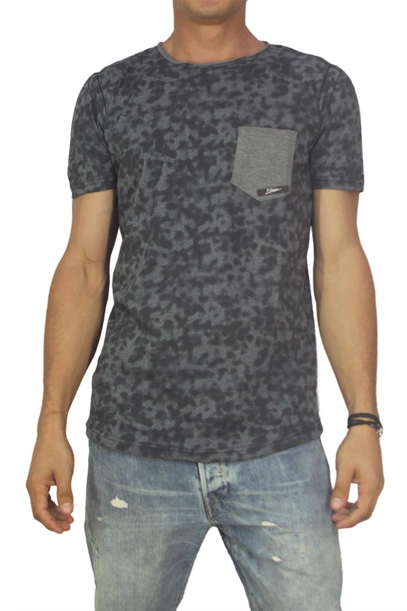Best choice Self ανδρικό T-shirt σκούρο λαδί με τσεπάκι