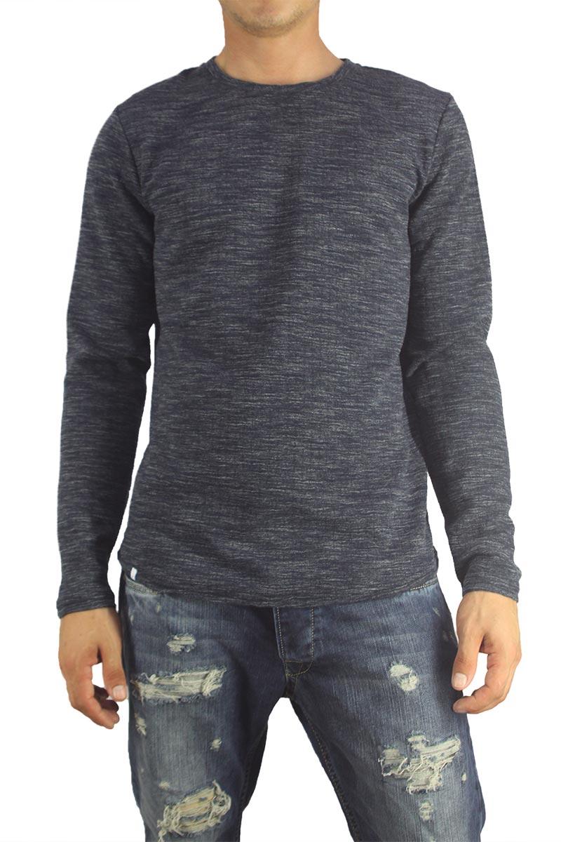 Anerkjendt ανδρική φούτερ μπλούζα Renko σκούρο μπλε μελανζέ