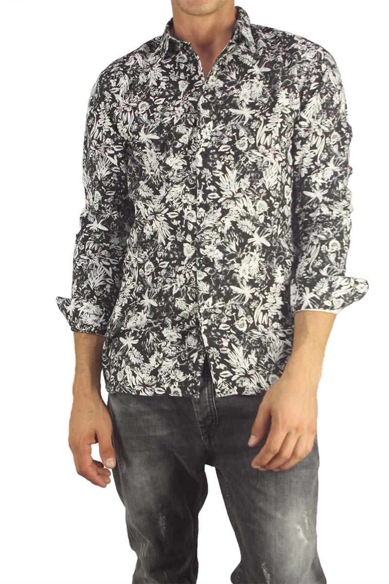 Anerkjendt ανδρικό πουκάμισο Girgoc ασπρόμαυρο
