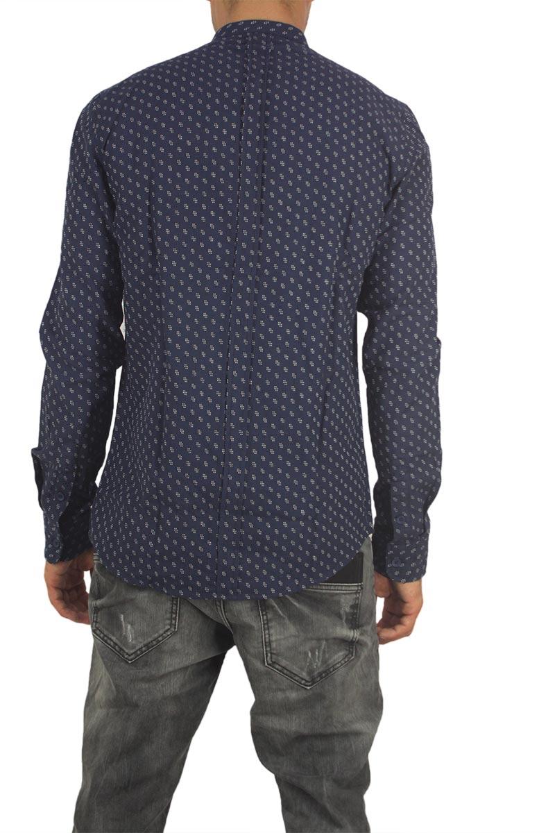 Anerkjendt Gento ανδρικό μάο πουκάμισο μπλε σκούρο f3eb721197b