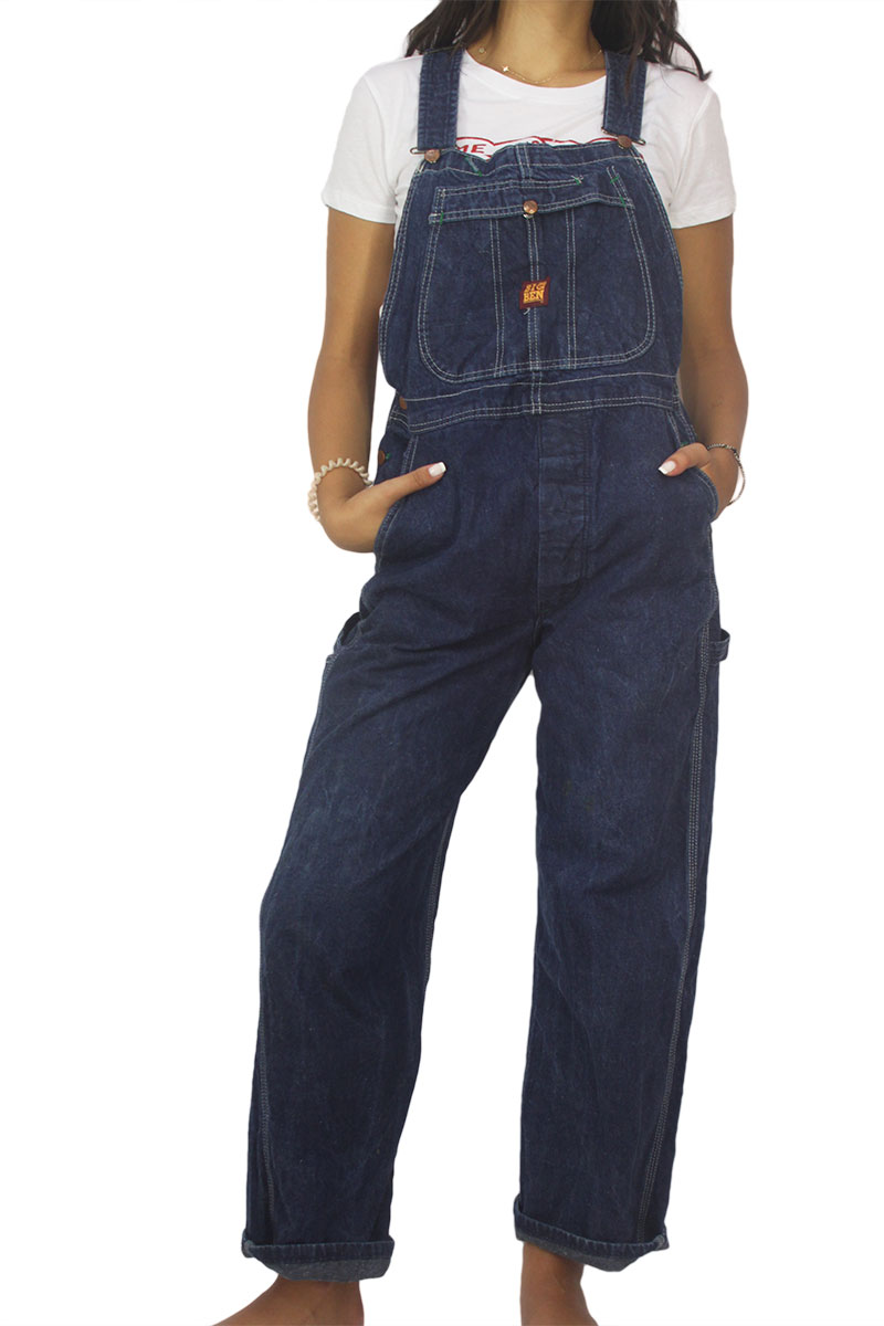 90s vintage denim overall dark blue γυναικεια     jeans