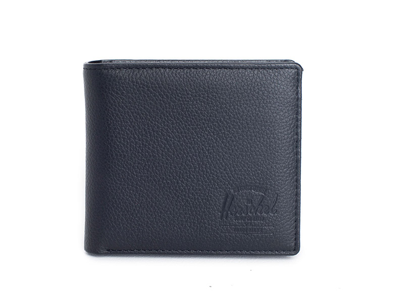 Herschel Supply Co. Hank large wallet black pebbled leather