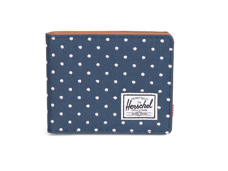 Herschel Supply Co. Hank wallet navy embroidery polka dot image