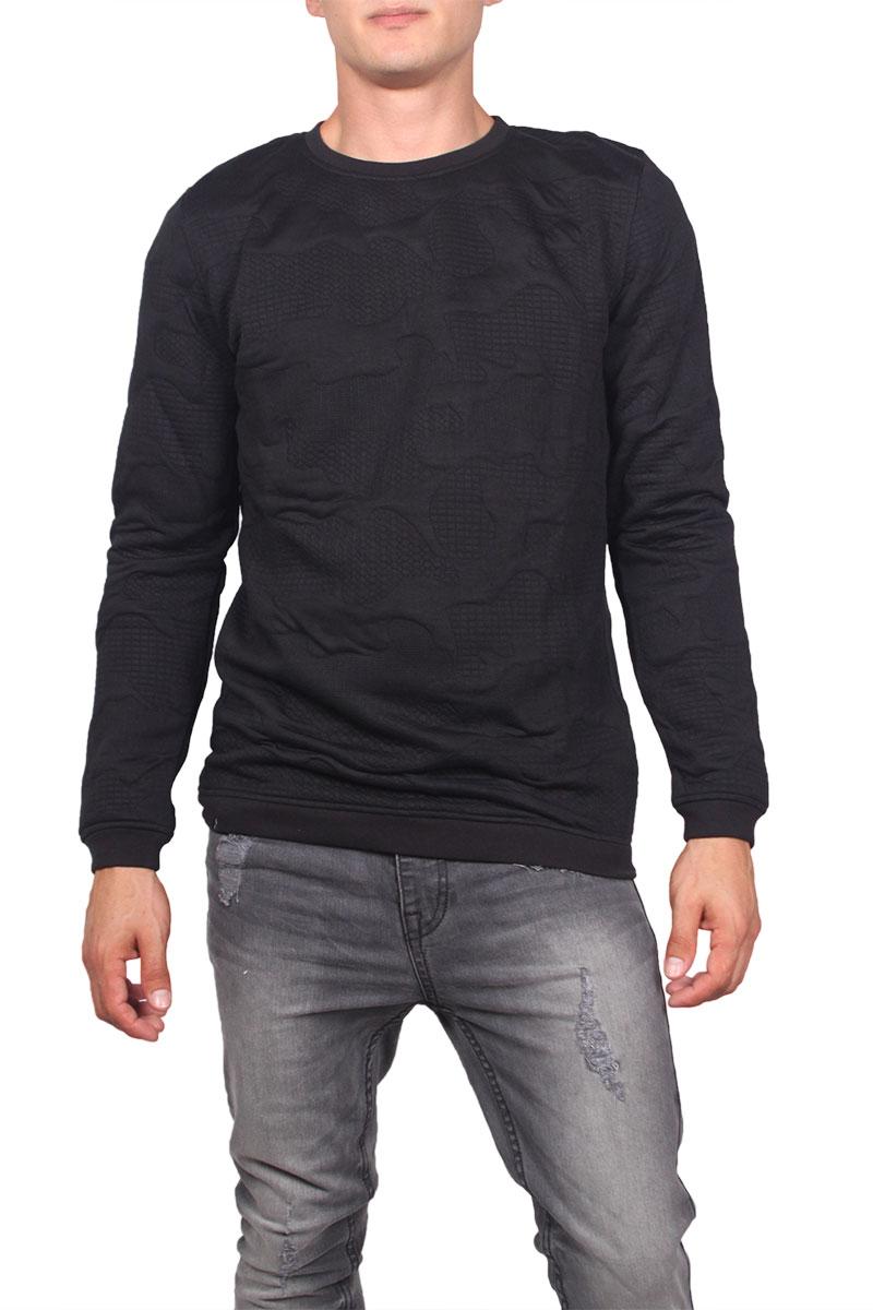 Anerkjendt ανδρική φούτερ μπλούζα Olestein μαύρη