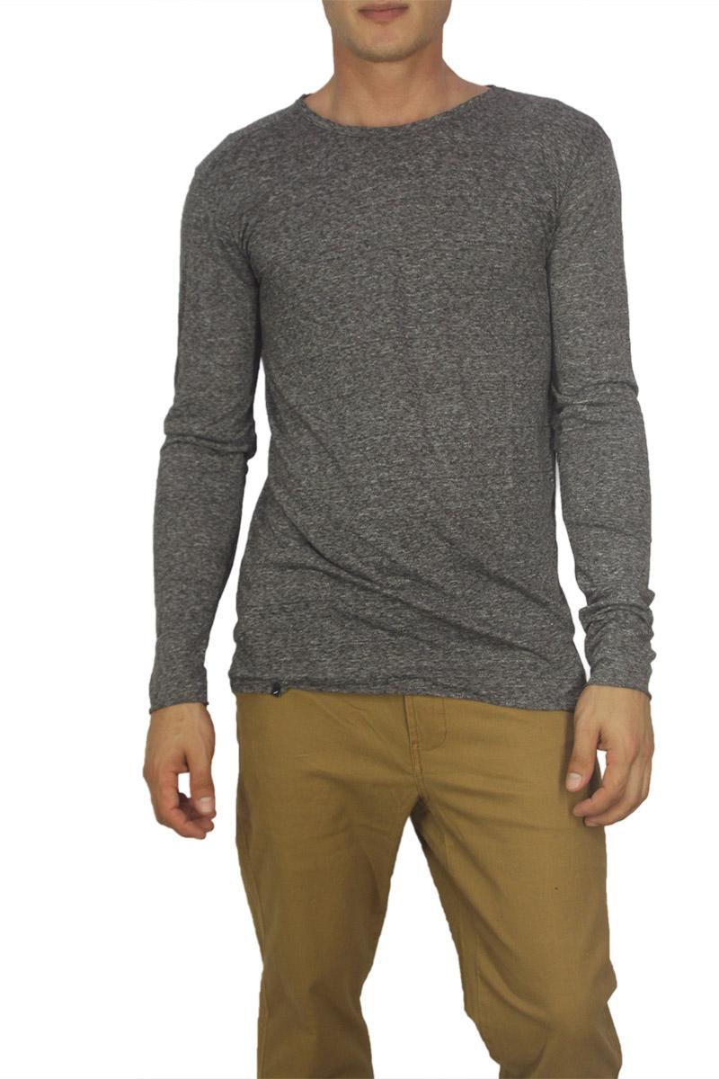 Anerkjendt ανδρική μακρυμάνικη μπλούζα Cameron ανθρακί μελανζέ
