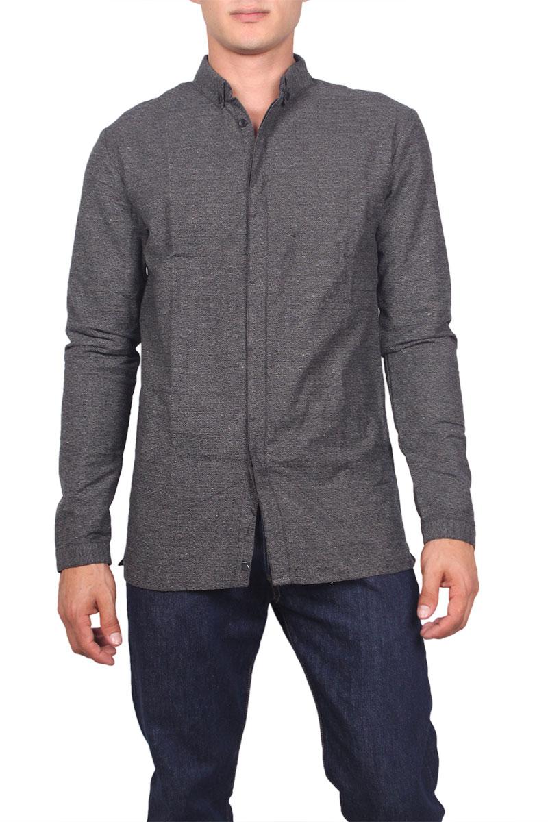 Anerkjendt ανδρικό πουκάμισο Rhane γκρι - 9516022