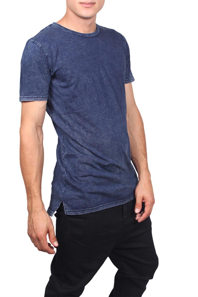 Globe longline t-shirt Goodstock indigo acid