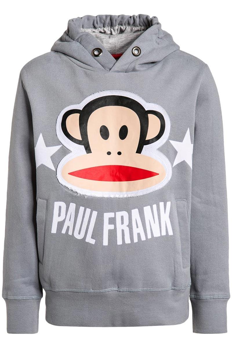 Paul Frank παιδική φούτερ μπλούζα για αγόρια ανοιχτό γκρι παιδικα   paul frank