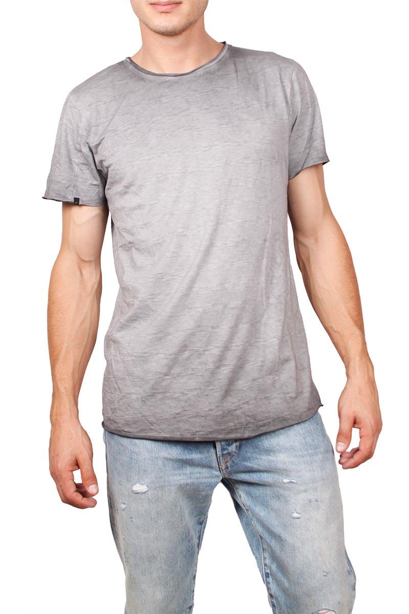 Anerkjendt Aies t-shirt γκρι πετροπλυμένο ανδρικα   t shirts
