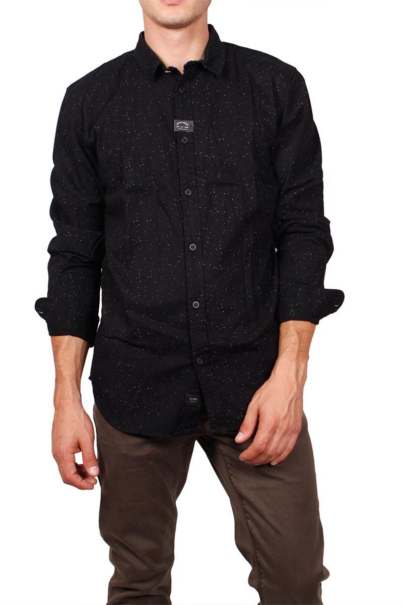 Globe Knight μακρυμάνικο πουκάμισο μαύρο image