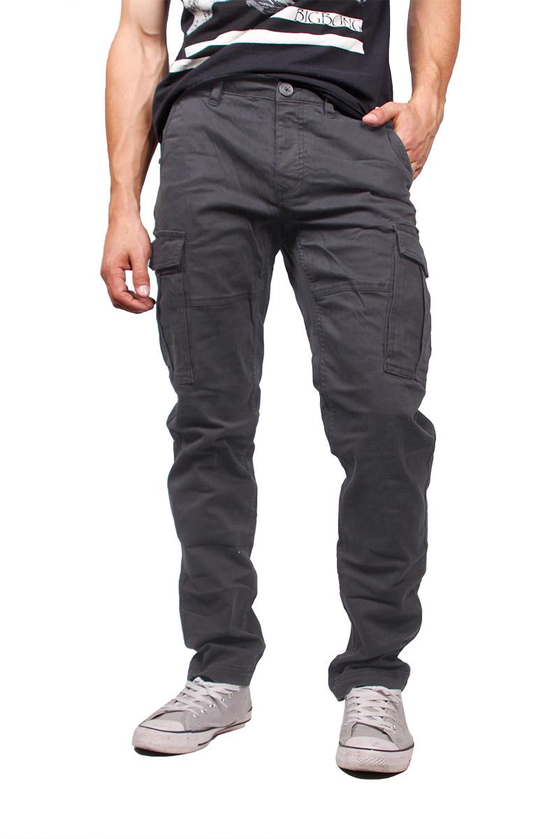 Gnious cargo παντελόνι Alber σε γκρι ανδρικα   παντελόνια