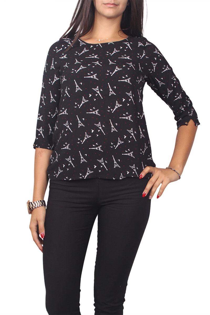 Migle + me all over print μπλούζα με τρουακάρ μανίκια