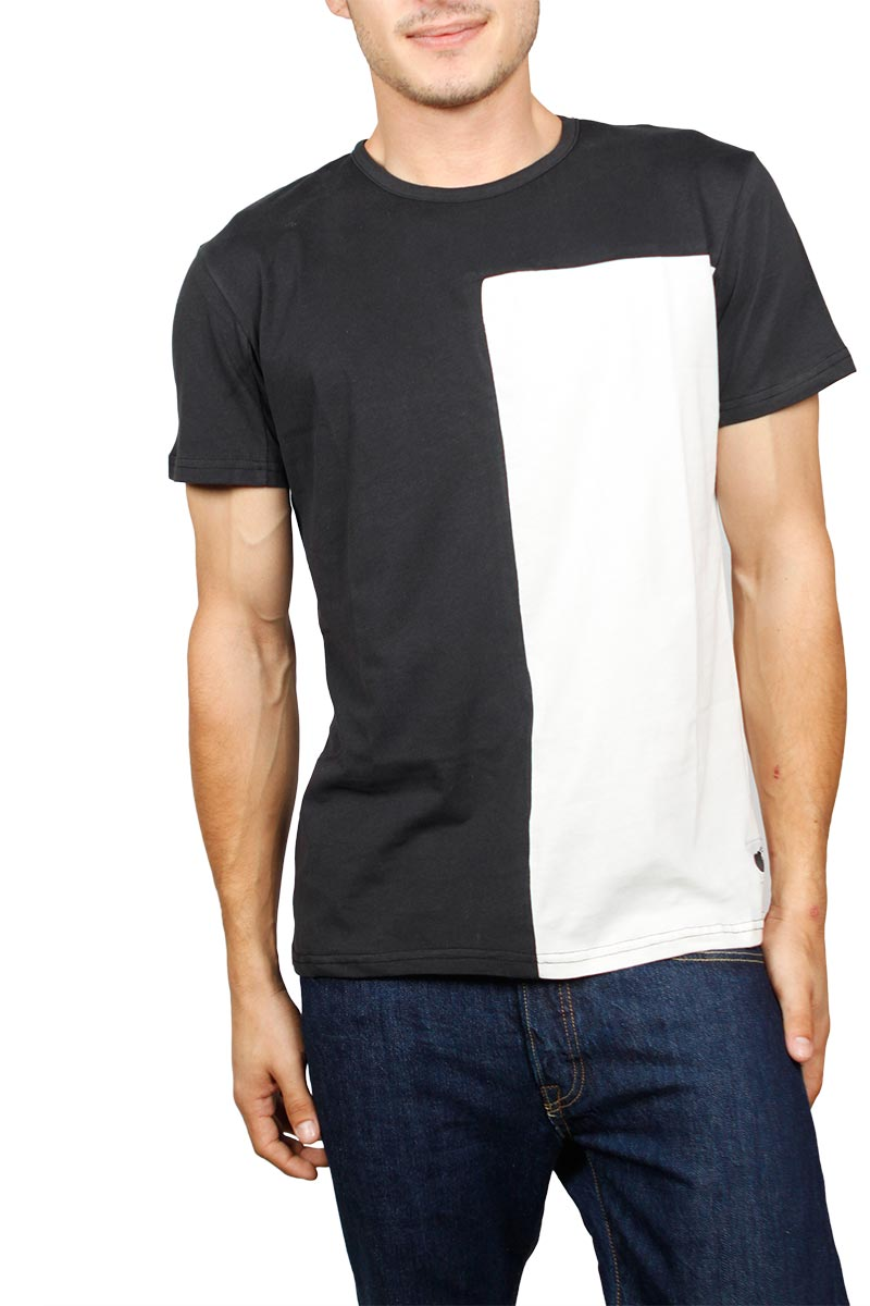 54d2c8bdc36b Bigbong T-shirt μαύρη με εκρού
