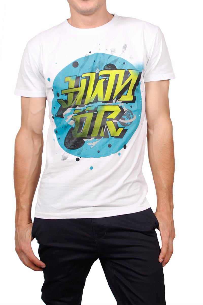 Humor t-shirt Luga λευκό
