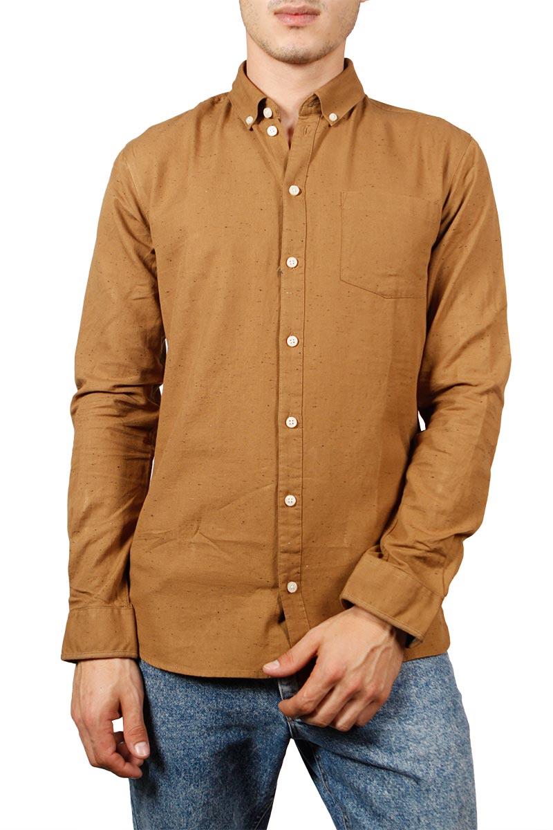 Minimum Bronxwood πουκάμισο κάμελ με στίγματα
