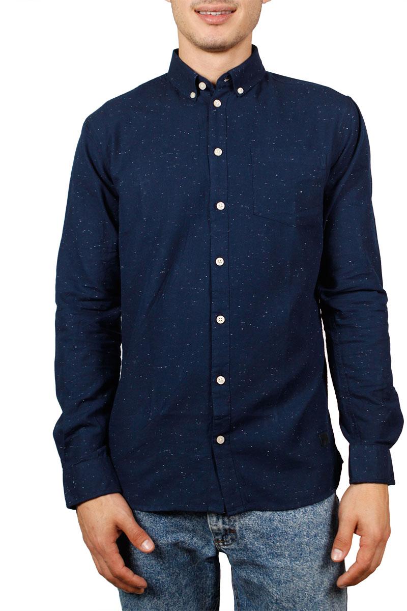 Minimum Bronxwood πουκάμισο μπλε με στίγματα