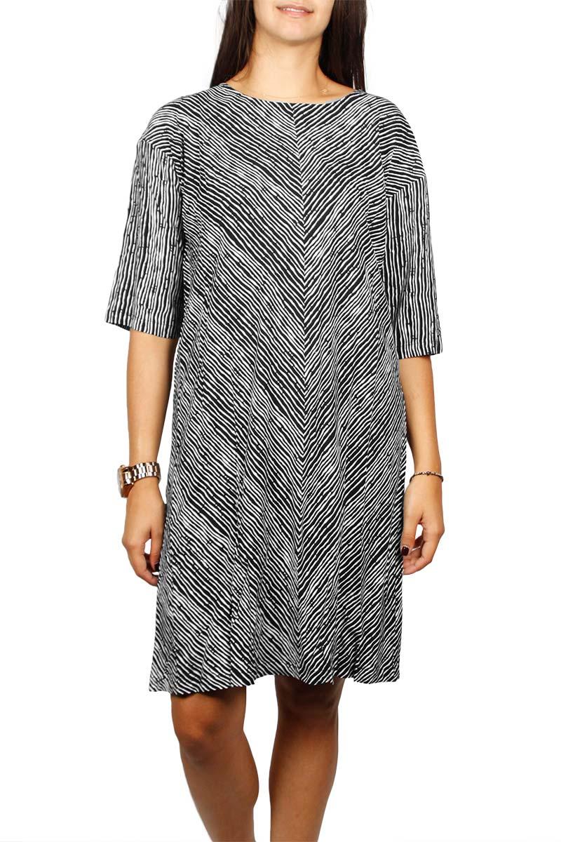 Minimum Liliane ασπρόμαυρο φόρεμα - 132410192