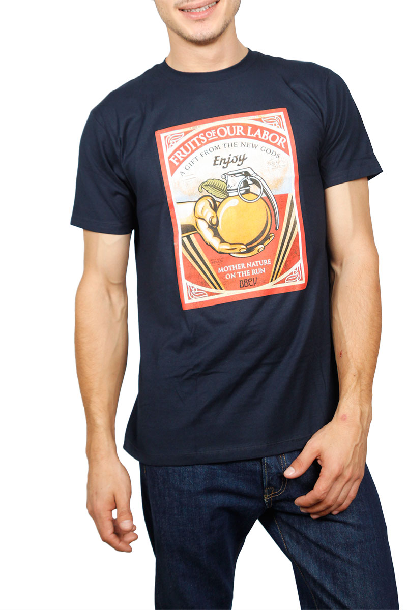 Obey Fruits of our Labor t-shirt navy