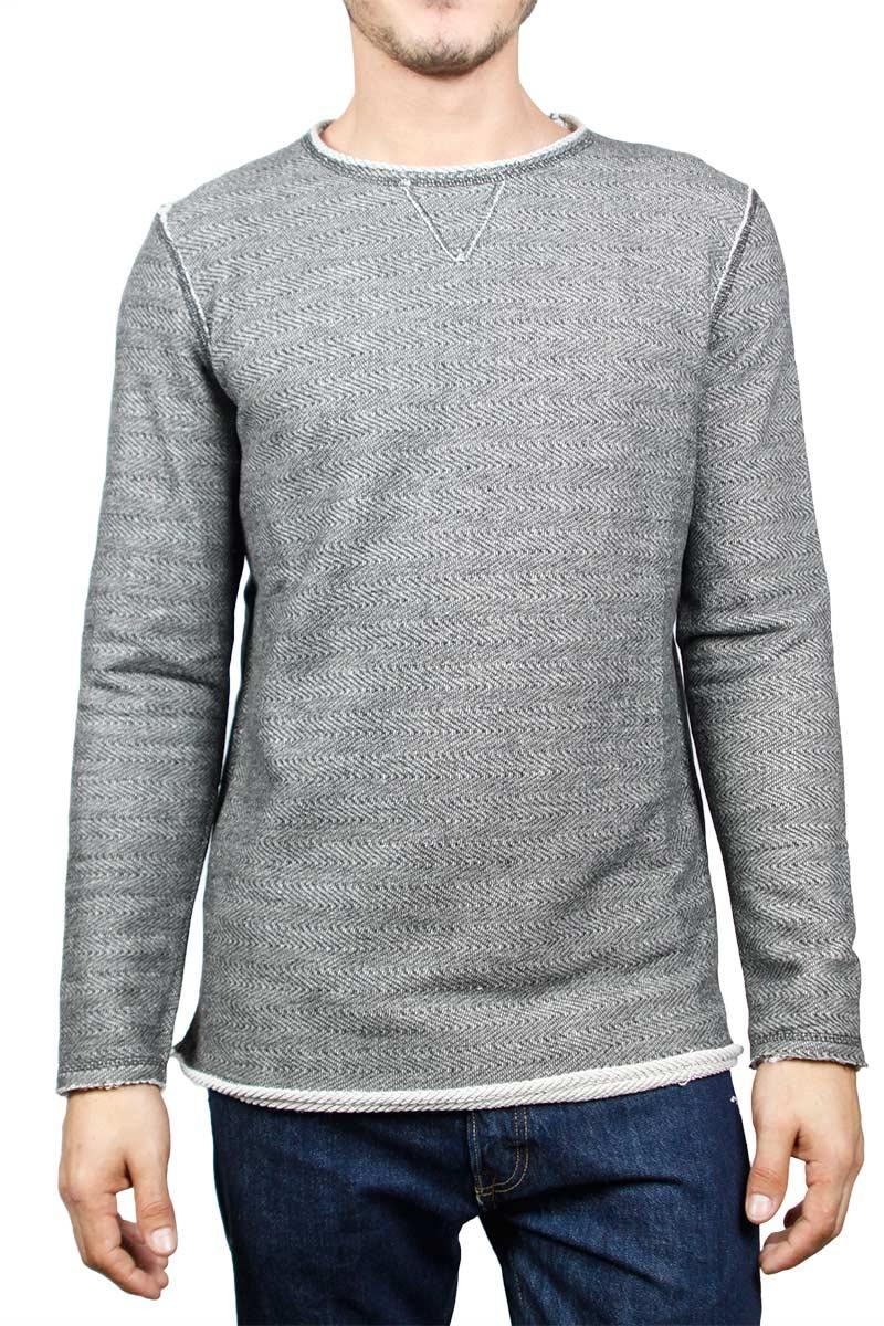 Best Choice ανδρική φούτερ μπλούζα γκρι μελανζέ - bc-w17069-gr