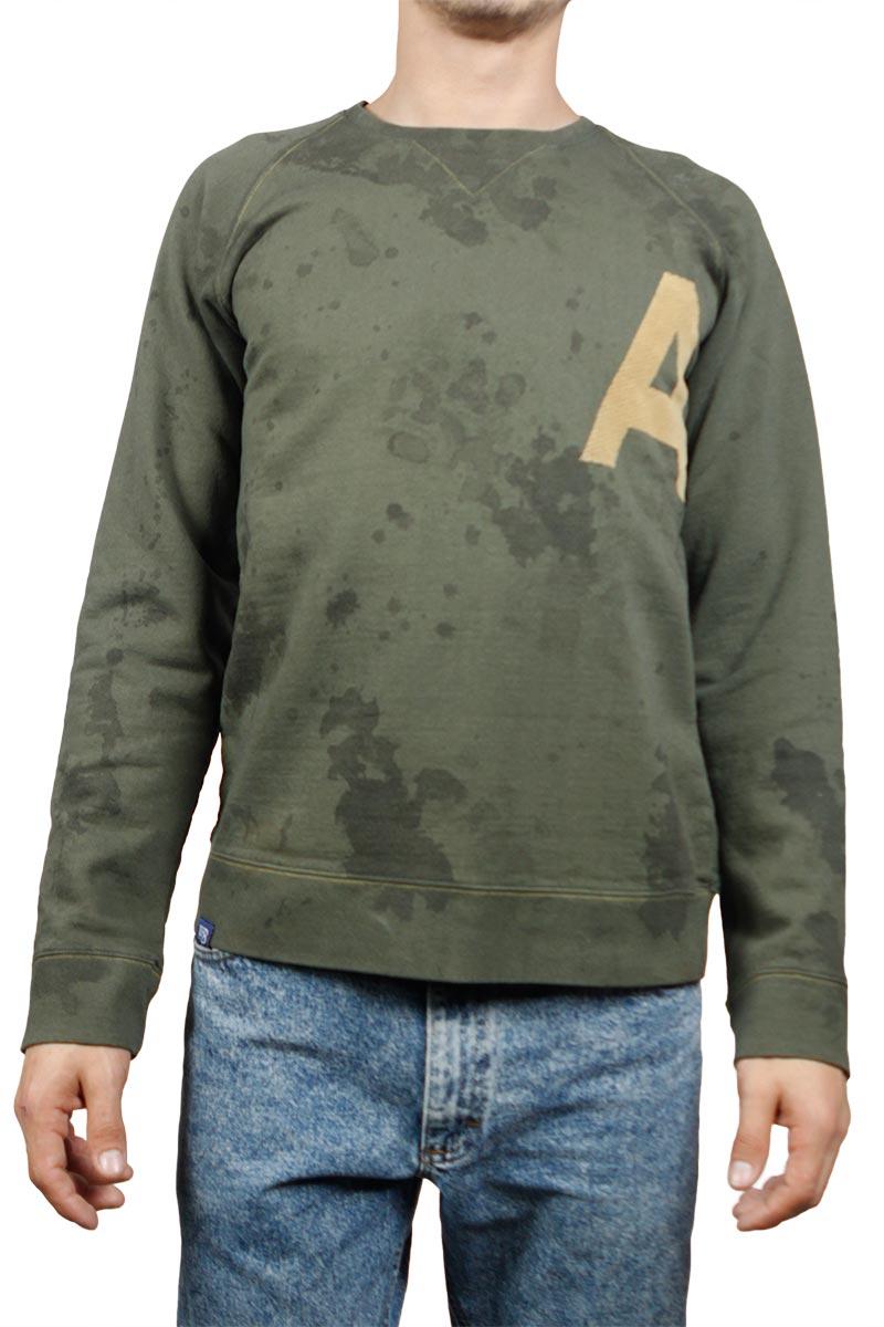 Ανδρική φούτερ μπλούζα λαδί - w17095-alpha-ol