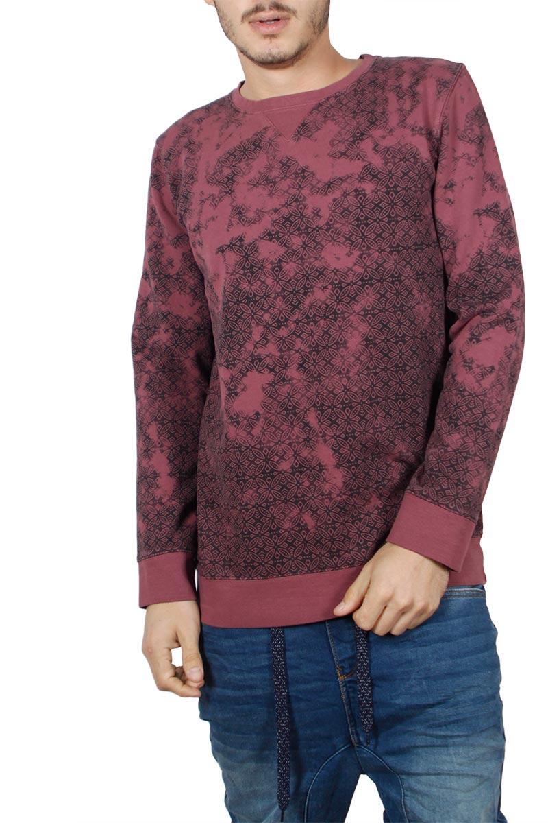 Best Choice ανδρική φούτερ μπλούζα μπορντό - bc-w17092-remvi-bor