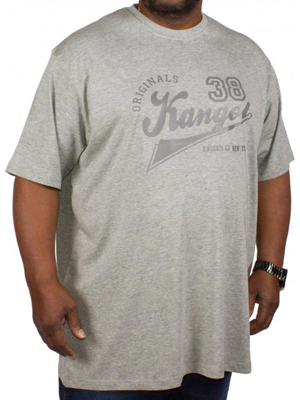 Big size Kangol Rex T-shirt γκρι μελανζέ