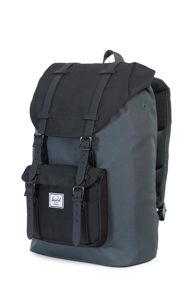 28d1460d6dd ... Herschel Supply Co. Little America mid volume backpack dark shadow black  ...